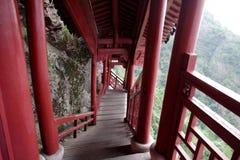 O monastério de suspensão Fotografia de Stock