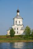 O monastério do Nilo-stolobenskaya abandona, região de Tver, Rússia Fotos de Stock Royalty Free