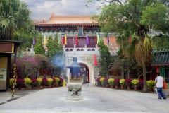 O monastério do po Lin na ilha de Lantau Hon Kong fotos de stock royalty free