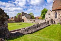 O monastério do St Augustines Abbey Benedictine permanece em Canterbury Fotos de Stock