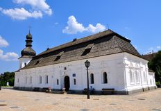 O monastério Dourado-abobadado de St Michael kiev ucrânia (Panorama) Fotos de Stock Royalty Free