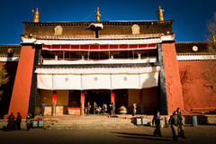 O monastério Gyantse Tibet de Palkhor Imagens de Stock Royalty Free
