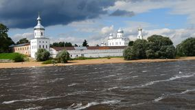 O monastério masculino ortodoxo do ` s Yuriev de St George video estoque