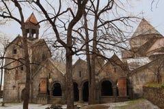 O monastério no inverno, Armênia de Sanahin fotos de stock royalty free