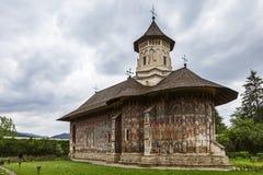 O monastério ortodoxo de Moldovita, Bucovina, Romênia foto de stock