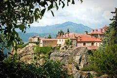 O monastério santamente de St Stephen - Meteora Grécia Fotografia de Stock