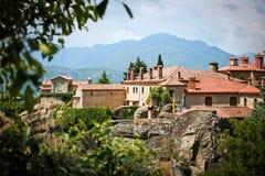 O monastério santamente de St Stephen - Meteora Grécia Imagem de Stock Royalty Free