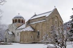 O monastério Studenica, Sérvia, local do patrimônio mundial do Unesco Imagem de Stock Royalty Free