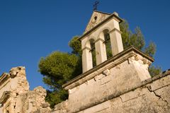 O monastério velho de Sissia, Kefalonia, setembro 2006 Fotografia de Stock