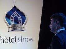 O monitor da conferência da mostra do hotel Fotografia de Stock