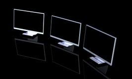 O monitor triplo Setup 2 Imagem de Stock Royalty Free