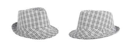 O Monochrome verificou o chapéu para ver se há o verão em um fundo isolado Foto de Stock
