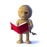 o monstro da mamã 3d lê um livro ilustração royalty free