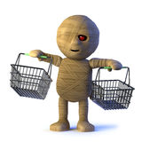 o monstro da mamã 3d vai comprar ilustração do vetor