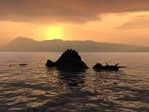 O monstro de Loch Ness Fotografia de Stock
