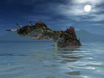 O monstro de Loch Ness Fotografia de Stock Royalty Free