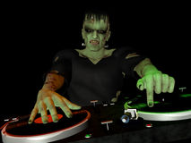 O monstro DJ de Frankenstein Fotografia de Stock Royalty Free