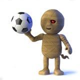 o monstro egípcio da mamã 3d ama o futebol Imagem de Stock Royalty Free