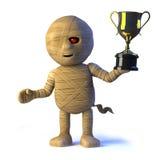 o monstro egípcio da mamã 3d ganha o troféu do copo do ouro ilustração royalty free