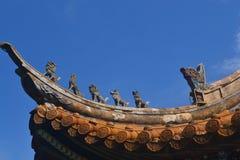O monstro no telhado Foto de Stock