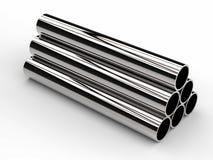 O montão do metal brilhante conduz no fundo branco ilustração stock