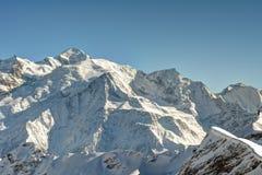 O Monte Branco Foto de Stock