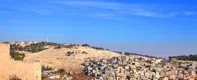 O Monte das Oliveiras em Jerusalem Fotografia de Stock