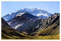 O monte de Aconcagua imagens de stock