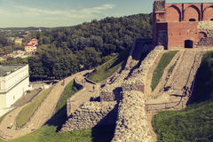 O monte de Gedeminas, Vilnius Foto de Stock