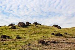 O monte e o céu fotos de stock