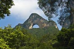 Monte da lua, Yangshuo, China fotografia de stock royalty free