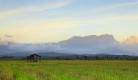 O Monte Kinabalu em Sabah, Bornéu, Malaysia Imagem de Stock