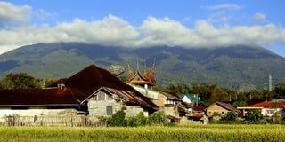 O Monte Merapi fotos de stock