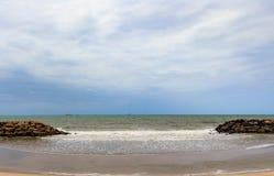 O monte na praia Fotos de Stock