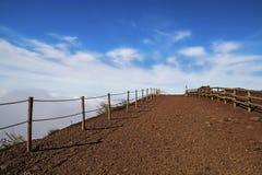 O Monte Vesúvio - paisagem da natureza no vulcão ativo do Vesúvio no golfo de Nápoles, Itália Foto de Stock