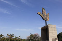 O MONUMENTO ABERTO DA MÃO, CHANDIGARH, ÍNDIA Imagens de Stock Royalty Free