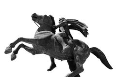 O monumento a Alexander o grande Fotografia de Stock Royalty Free