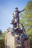 O monumento ao almirante Makarov em Kronstadt Imagens de Stock