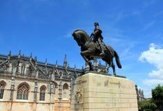 O monumento ao comandante português fotografia de stock royalty free