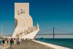 O monumento ao dos Descobrimentos de Padrao das descobertas comemora a idade portuguesa da descoberta imagem de stock royalty free