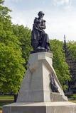 O monumento ao poeta Lermontov em Pyatigorsk fotos de stock