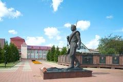 O monumento ao soldado-libertador Memorial em honra do 60th aniversário da vitória na grande guerra patriótica Foto de Stock