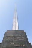 O monumento aos conquistadores do espaço. imagem de stock royalty free