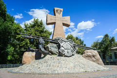O monumento aos cossacos ucranianos em Poltava Foto de Stock