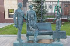 O monumento aos heróis dos oficiais do filme Fotografia de Stock Royalty Free
