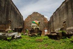 O monumento da história no grande palácio de Narai em Lopburi, Tailândia Fotografia de Stock Royalty Free