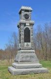 34o monumento da infantaria de New York - campo de batalha nacional de Antietam, Maryland Imagens de Stock