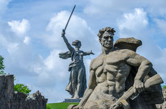 O monumento da pátria, Volgograd, Rússia Os heróis do ` lutam ao quadrado do ` da morte Imagem de Stock
