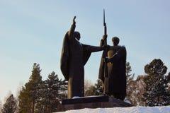 O monumento da segunda guerra mundial em Tomsk Fotografia de Stock Royalty Free