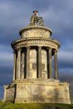 O monumento das queimaduras em Edimburgo fotos de stock